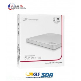LG MASTERIZZATORE DVD ESTERNO ULTRASLIM USB 2.0 BIANCO - GP57EW40
