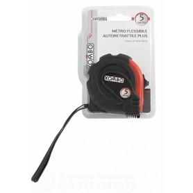 METRO FLESSIBILE AUTORETRATTILECON CLIP, 5MTX19MM. BLOCCAGGIO A PULSANTE CON RITORNO