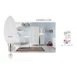 OMEGA CANDELA LED C35 5W 3000K 450LM E14 A+  LUCE CALDA