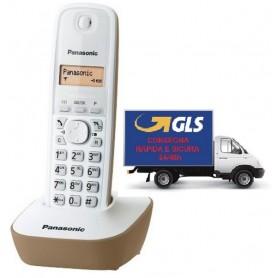 PANASONIC KX-TG1611JTJ TELEFONO CORDLESS COLORE BIANCO/BEIGE