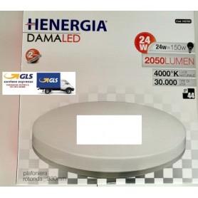 PLAFONIERA DAMA LED 24W TONDA IP44 4000K 120° 2050LM 220/240V 50/60Hz DIMENS.330x49 LUCE NATURALE BIANCO