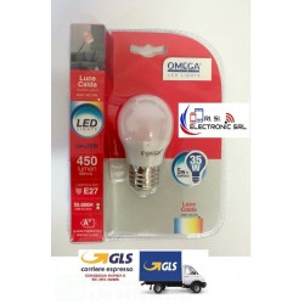 SFERA LED G45 5W ATTACCO GRANDE E27 3000K 450LM A+ XXX  LUCE CALDA