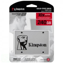 "SSD 240GB KINGSTON SSDNOW UV400 2.5"" INTERFACCIA SATA III GRIGIO - SUV400S37/240G"