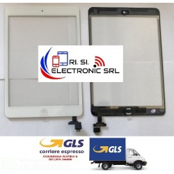 TOUCH SCREEN DI RICAMBIO PER APPLE IPAD MINI 3 BIANCO WIFI 3G A1599/A1600 IC INCLUSO + BIADESIVO