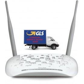 TP-LINK TD-W8961N MODEM ROUTER ADSL2+ WI-FI N300 MBPS 4 PORTE FAST ETHERNET BIANCO