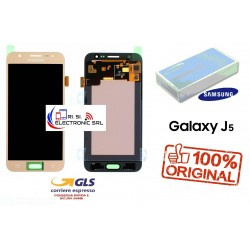 DISPLAY LCD+ TOUCH (AMOLED) ORIGINALE SAMSUNG J5 2015 J500F/FN/DS GOLD