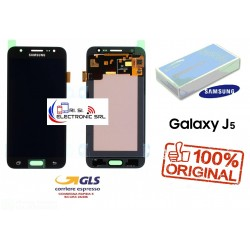 DISPLAY LCD+ TOUCH (AMOLED) ORIGINALE SAMSUNG J5 2015 J500F/FN/DS NERO
