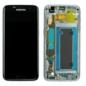 LCD DISPLAY (SAMOLED) DI RICAMBIO ORIGINALE SAMSUNG S7 EDGE G935F FRAME SILVER GH97-18533B