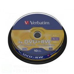 43488 - VERBATIM DVD+RW 4X SPINDLE DA 10 CARTONE 200 PZ.
