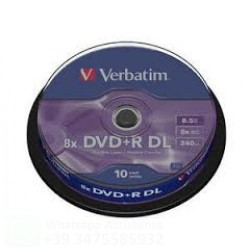 43666 - VERBATIM DVD+R 8 x  DOUBLE LAYER 8.5 GB SPINDLE DA 10