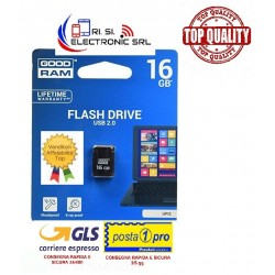 GOODRAM USB FLASH NANO 16GB USB 2.0 COLORE NERO UPI2-0160K0R11