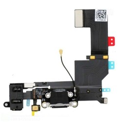 IPHONE 5S NERO FLAT FLEX DI RICARICA CONNETTORE DOCK DI RICAMBIO OEM - Iphone 5S Charging Port - Black
