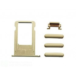 IPHONE 6 PLUS GOLD SET DI RICAMBIO PULSANTI (VOLUME-MUTE-ON/OFF-CARRELLO SIM)