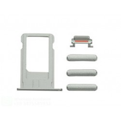 IPHONE 6 PLUS SILVER SET DI RICAMBIO PULSANTI (VOLUME-MUTE-ON/OFF-CARRELLO SIM)