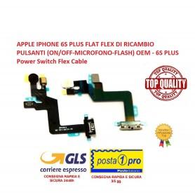 APPLE IPHONE 6S PLUS FLAT FLEX DI RICAMBIO PULSANTI (ON/OFF-MICROFONO-FLASH) OEM - 6S PLUS Power Switch Flex Cable