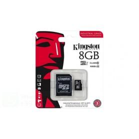 KINGSTON MEMORIA MICRO-SDHC 8GB CLASSE 4 CON ADATTATORE SD  SDC4/8GB