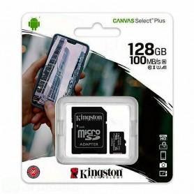 KINGSTON MEMORIA MICRO-SDCS2/128GB CLASSE 100 R A1  100MB/s R. CON ADATTATORE SD