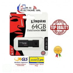 KINGSTON USB FLASH 64GB USB 3.0 NERA DT100G3/64GB