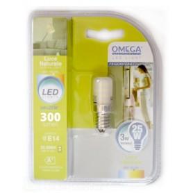 OMEGA LAMPADA LED FRIGORIFERO 3W 300LM ATTACCO E14 4000K A+   LUCE NATURALE