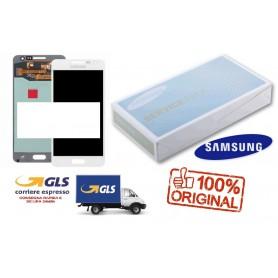 LCD DISPLAY (SAMOLED) DI RICAMBIO ORIGINALE SAMSUNG A5 2015 SM-A500F BIANCO GH97-16679A