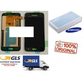 LCD DISPLAY (AMOLED) DI RICAMBIO ORIGINALE SAMSUNG J1 2016 J120F NERO/BLACK GH97-18224C