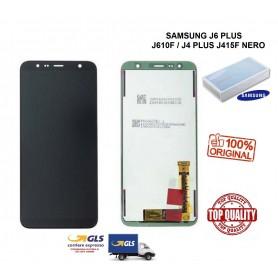 LCD DISPLAY DI RICAMBIO ORIGINALE SAMSUNG J6 PLUS J610F/J4 PLUS J415F NERO GH97-22582A