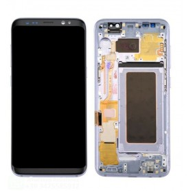 LCD DISPLAY (AMOLED) DI RICAMBIO ORIGINALE SAMSUNG S8 G950 + FRAME ORCHID GREY (VIOLET) GH97-20457C