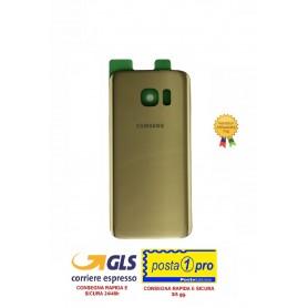 BACK COVER VETRO POSTERIORE COPRIBATTERIA PER SAMSUNG G930 S7 GOLD CON BIADESIVO INCLUSO