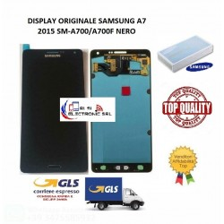 LCD DISPLAY (AMOLED) DI RICAMBIO ORIGINALE SAMSUNG A7 2015 SM-A700F NERO GH97-16922B