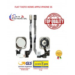 APPLE IPHONE 5S BIANCO FLAT FLEX HOME BUTTON DI RICAMBIO - 5S Home Button Assembly - White