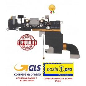 APPLE IPHONE 6S NERO FLAT FLEX DI RICARICA CONNETTORE DOCK - 6S Charging Port - Black