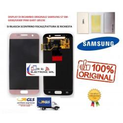 LCD DISPLAY (SAMOLED) DI RICAMBIO ORIGINALE SAMSUNG S7 SM-G930/G930F PINK GH97-18523E