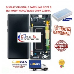 LCD DISPLAY (SAMOLED)  ORIGINALE SAMSUNG NOTE 9 SM-N960 NERO/BLACK GH97-22269A
