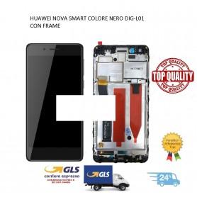 LCD DISPLAY TOUCH SCREEN DI RICAMBIO PER HUAWEI NOVA SMART COLORE NERO CON FRAME DIG-L01