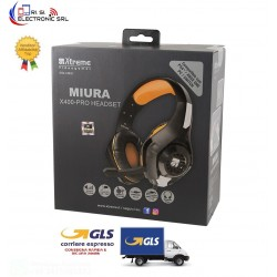 CUFFIE MIURA X19PRO GAMING HEADPHONE 2.0 COMPATIBILE PS4 E XBOX CON REGOLATORE VOLUME E SWITCH MICROFONO JACK 3,5mm