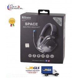 CUFFIE SPACE GAMING HEADPHONE 2.0 COMPATIBILE PS4 E XBOX NERE E BLU CON REGOLATORE VOLUME E SWITCH MICROFONO