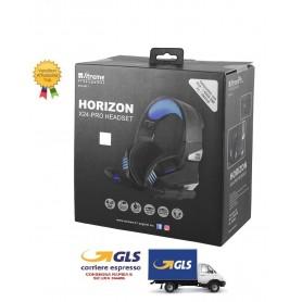 CUFFIE HORIZON GAMING HEADPHONE  COMPATIBILE PS4 E XBOX CON REGOLATORE VOLUME E SWITCH MICROFONO JACK 3,5mm