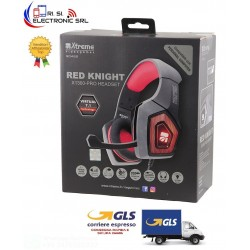 CUFFIE RED KNIGHT X1300 PRO  GAMING HEADPHONE  COMPATIBILE PS4 E XBOX CON REGOLATORE VOLUME E SWITCH MICROFONO JACK 3,5mm