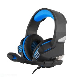 CUFFIE HORIZON GAMING HEADPHONE  COMPATIBILE PS4 E XBOX CON REGOLATORE VOLUME E SWITCH MICROFONO JACK 3,5mm