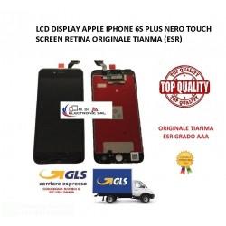 LCD DISPLAY APPLE IPHONE 6S PLUS NERO TOUCH SCREEN RETINA ORIGINALE TIANMA (ESR)