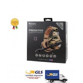 CUFFIE PREDATOR XC300 PRO  GAMING HEADPHONE  COMPATIBILE PS4 E XBOX CON REGOLATORE VOLUME E SWITCH MICROFONO JACK 3,5mm CAVO 2.