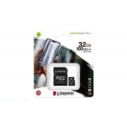 KINGSTON MEMORIA MICRO-SDCS2/32GB CLASSE 100 R A1  100MB/s R. CON ADATTATORE SD