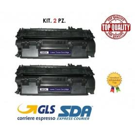 KIT. 2 PZ. TONER HP CE505A/CF280A/CRG719 P2030 LASER  NERO - PAG. 2300