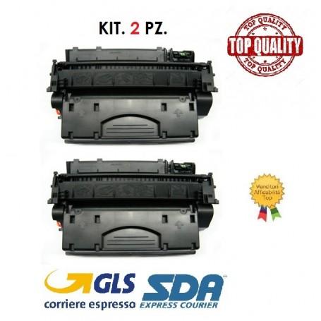 KIT. 2 PZ. TONER HP CE505X/CF280X/CRG719H P2050 LASER NERO - PAG. 6500