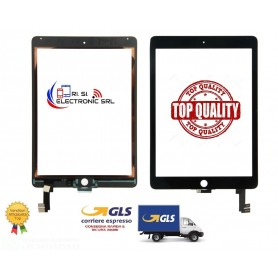 VETRO TOUCH APPLE IPAD AIR 2 / IPAD 6 A1566,A1567 NERO/BLACK 821-2693-02 TOP QUALITY