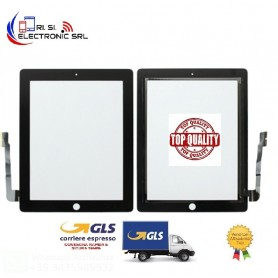 VETRO TOUCH SCREEN DI RICAMBIO PER APPLE IPAD 3 NERO A1430 A1416 TOP QUALITY