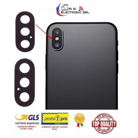 Vetrino fotocamera posteriore apple iphone x (anello non incluso) - lens back camera black