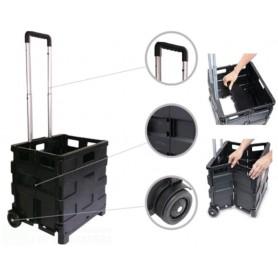 Carrello Trolley Pieghevole 2 Ruote Manico Per Spesa e Campeggio Manico telescopico in alluminioAPERTO CM 83X38X30 CHIUSO CM 42