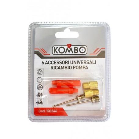 KOMBO Kit 6 Accessori Universali per Gonfiaggio