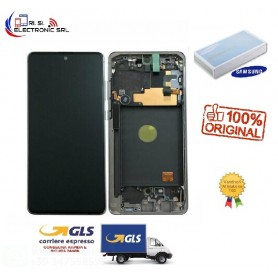 LCD DISPLAY (SAMOLED) ORIGINALE SAMSUNG NOTE 10 LITE N770 AURA BLACK GH82-22055A